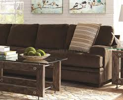 Chocolate Sectional Sofa Sectional Sofa 501147 In Chocolate Fabric By Coaster