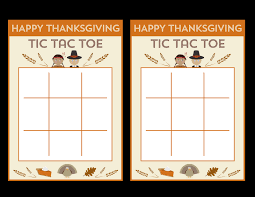 free printable thanksgiving tic tac toe printables for
