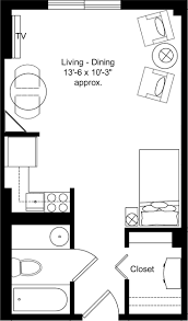 one bedroom efficiency apartment plans home design ideas