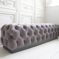 luxury bedroom benches velvet chesterfield bench by the french bedroom company