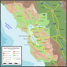 San Francisco Area Map by File Bay Area Map De Png Wikimedia Commons