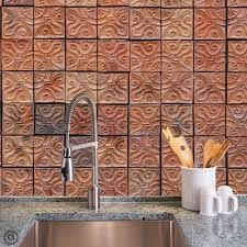 Stick And Peel Wallpaper by Removable Wallpaper Clay Tiles Peel U0026 Stick Self Adhesive