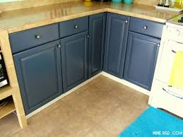 slate blue kitchen cabinets nine red painting the kitchen cabinets part 2