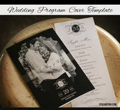 wedding program cover free wedding program cover template