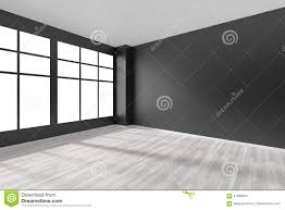 empty room with white parquet floor black walls and window stock empty room with white parquet floor black walls and window