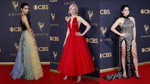Blue Ribbon Carpet 2017 Emmy Awards Red Carpet A Sea Of Silver A Splash Of The