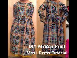 diy african print maxi dress with zipper ankara youtube