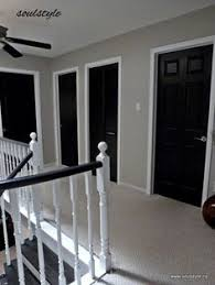 black doors sw crushed ice on walls love color of walls for