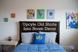 Upcycle Old Tshirts - turn old t shirts into room decor u2013 wall hanging and t shirt