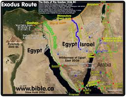 Satellite Map Live The Exodus Route Crossing The Red Sea