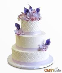 3 tier wedding cake 3 tier lavender ribbon wedding cake cmny cakes