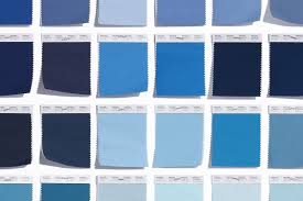 blue pantone fashion home interiors swatches a sampling of