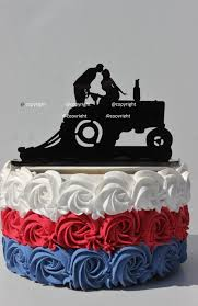 tractor cake topper country western farm tractor wedding cake topper farmer