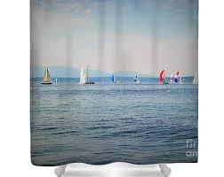 Sailboat Shower Curtains Shower Curtains Lemonspluslife