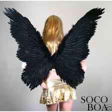 black butterfly feather angel wings halo halloween costume xl