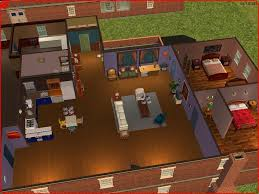 mod the sims friends mansion light apartments central perk