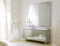 country bathroom vanity ideas rectangle frame glass wall mirror