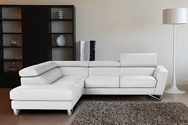 White Italian Leather Sectional Sofa Sparta Italian Leather Sectional Sofa In White Color Nicoletticalia