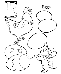Coloring Eggs Easter Egg Coloring Pages Egg Easter Alphabet Coloring Pages