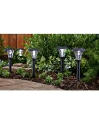 Solar Powered Landscape Lights Sale Mainstays Pebbled Cone 8 Solar Powered