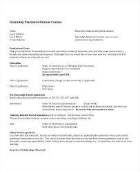 engineering internship resume template word summer internship resume