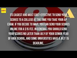easiest online high school how do you send your ap scores to college