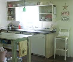 Shabby Chic Kitchen Furniture by Small Kitchen Makeover In A Mobile Home
