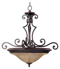 Inverted Bowl Pendant Light by Maxim Symphony Hanging Ceiling Light 27w In Oil Rubbed Bronze