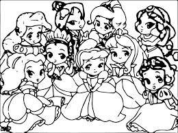 free printable coloring baby disney princess coloring pages 35