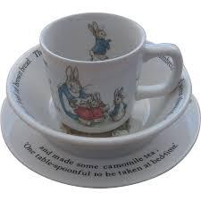 rabbit wedgwood vintage wedgwood rabbit dishes child s 3 place