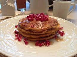 breakfast thanksgiving morning the sustainable palate pumpkin pomegranate pancakes