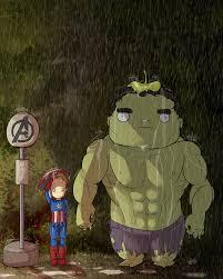 My Neighbor Totoro Single Sofa Great Avengers And My Neighbor Totoro Mashup Art News