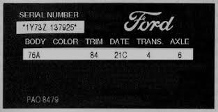 mustang vin lookup 1960 1980 ford lincoln and mercury vin explanation automotive