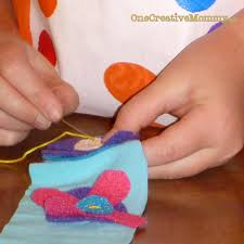 easy flowered headband tutorial for kids onecreativemommy com