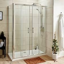 Pacific Shower Doors Pacific Sliding Shower Door With Optional Side Panel