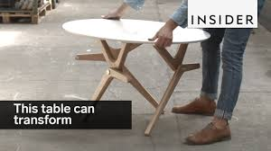 Sofa Table That Converts To A Dining Table by This Table Tranforms From A Coffee Table To A Dining Table Youtube