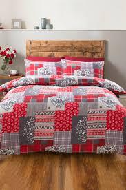 alpine patchwork heart flannelette duvet sets single double king