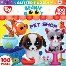 puzzle themes 100pc ty beanie boo glitter 11625 petshop club