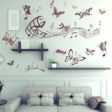 Music Note Wall Decor Wall Decor Musical Staff With Notes Wavey Wall Decor Vinyl Decal