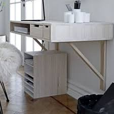 sous le bureau bureau à tiroirs style scandinave blanc naturel aquila les