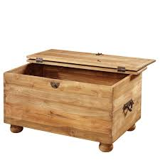 a classic handcrafted wooden ottoman made from 100 reclaimed teak
