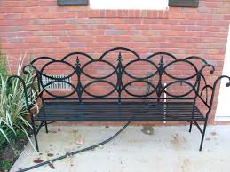 Wrought Iron Mesh Patio Furniture by Outdoor Wrought Iron Bench U2013 Ammatouch63 Com
