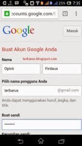 membuat email baru gmail cara membuat email baru akun google mail gmail lewat hp android