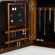 Wall Mirror Jewelry Armoire Wall Mounted Jewelry Box With Mirror Foter
