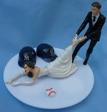 baseball wedding cake toppers wedding cake topper house divided baseball team rivalry themed you