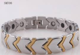 power health bracelet images 2018 health germanium power gold men 39 s h bracelet stainless steel jpg