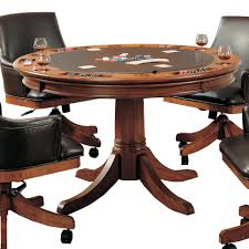 round poker table with dining top round flip top gaming dining table by hillsdale wolf and gardiner
