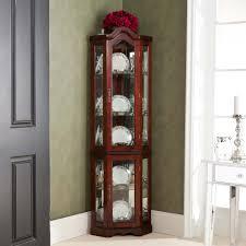 Curio Cabinets Walmart Lighted Corner Curio Cabinet Oak Best Home Furniture Decoration