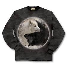 yin yang wolves ls tshirt southwest indian foundation 10325