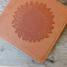 Leather Scrapbook Albums Leather Photo Album Leather Scrapbook Wedding Album Sunflower